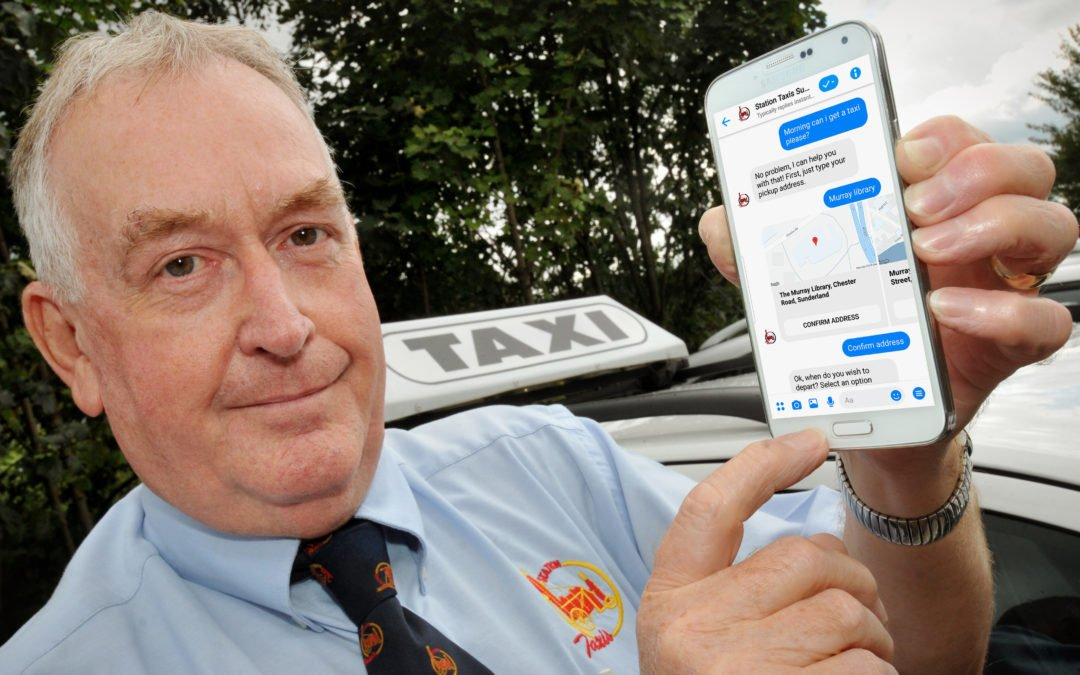 Sunderland Taxi firm launch Facebook Chatbot Bookings